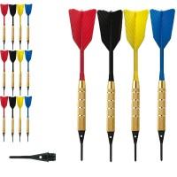 Dardi set di 12 Freccette Softdard Fly Fast, punta in plastica, 1-4 BSF 2BA16gr. Con 50 punte Goldstar di ricambio
