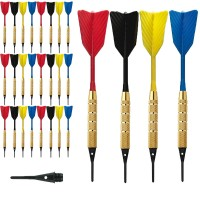 Dardi set di 24 Freccette Softdard Fly Fast, punta in plastica, 1-4 BSF 2BA16gr. Con 100 punte Goldstar di ricambio