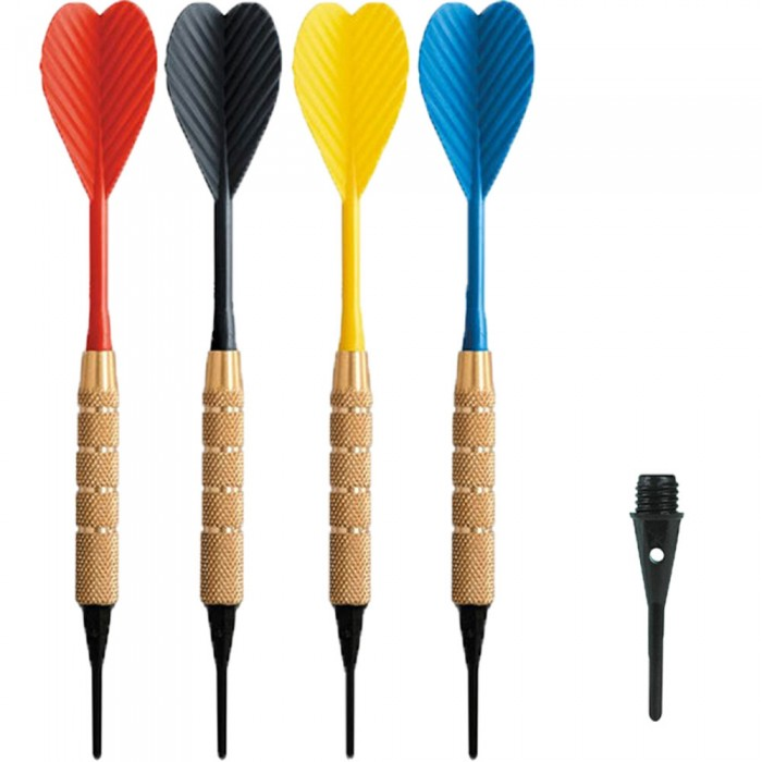 Dardi set di 100 Freccette Soft Tip, punta in plastica, tipo HT 1-4 BSF 16gr. Con 500 punte Goldstar di ricambio.
