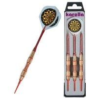 Dardi Karella K1 18gr 2DBA set 3 freccette Soft Tip punta plastica.