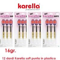 Karella soft England 4 set da 3 dardi 16gr. punta plastica