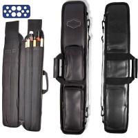 Custodia stecca biliardo Buffalo Premium Black fodero porta stecca imbottito in pelle sintetica capacità 4 calci e 8 punte con guanto omaggio.