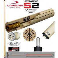 """Longoni Stratos S2 VP2 punta per stecche biliardo pool. Punta in hardrock acero del Quebec con tecnica """"a spicchi"""". Profilo American lunghezza 29'-mm.735, cuoio  mm.12,8, con omaggio."""