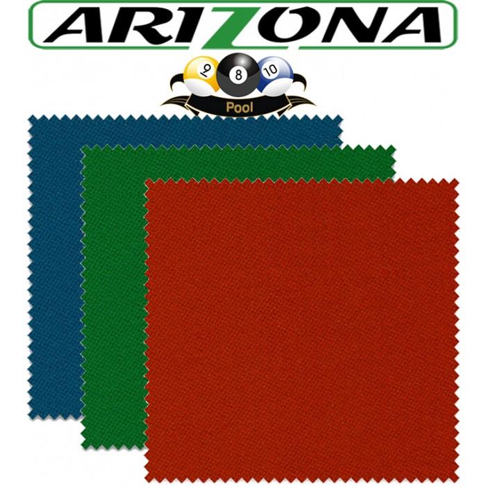 Panno biliardo pool Renzi Line Arizona. Taglio mt. 2,6x1,6 copertura piano e sponde Pool 7 piedi, campo da gioco cm.200x100, ardesia cm.222x120. Disponibile in tre colorazioni.