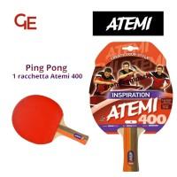 Atemi 400 linea Traning racchetta da ping pong (tennis da tavolo) dorso rosso-nero, modello approvato dalla Federazione Internazionale del Ping Pong.