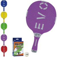 EVO S-II racchetta ping pong  Lilla_Grigio per esterno in nylon sfera-vetro, rivestita in gomma, con omaggio.