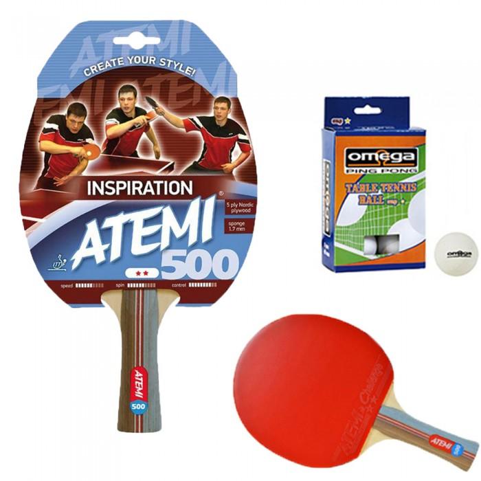 Atemi 500 linea Traning racchetta da ping pong (tennis da tavolo) dorso rosso-nero, modello approvato dalla Federazione Internazionale del Ping Pong.
