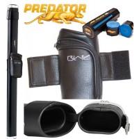 Stecca Biliardo Predator Sport C3SY nero 1x1. Fodero porta stecca mod. Tubo per stecca 2pz. capacità un calcio e un puntale, con gesso Predator omaggio.