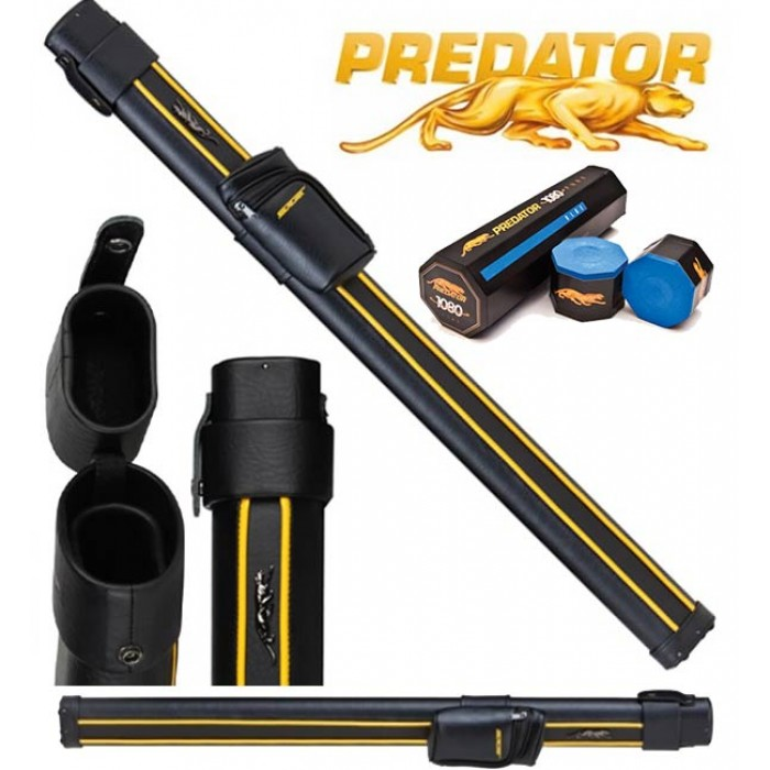 Stecca Biliardo Predator Sport C3SP 1x1. Fodero porta stecca mod. Tubo per stecca 2pz. capacità un calcio e un puntale, con gesso Predator omaggio.