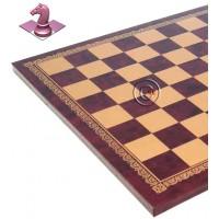 Scacchiera Italfama in similcuoio rosso, con raffinata bordura in oro, produzione italiana. Dimensioni cm.33x33 spessore cm. 1,5, casella cm. 3,5x3,5.