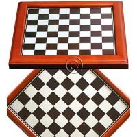 Scacchiera Dal Negro cornice in legno massello piano gioco in alluminio. Dimensione cm. 40x40, casella cm. 4x4.