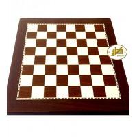 Scacchiera Italfama Firenze simil legno effetto ebano cm. 40x40, campo da gioco cm.32x32, casa mm.40, spessore mm.13, con delimitazione campo da gioco.