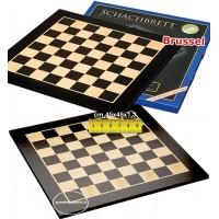 Scacchiera in legno intarsio acero-sicomoro nero e acero bianco. Dimensioni cm. 45x45, campo da gioco, delimitato, cm.36x36, casa mm.45x45, spessore cm.1,3. Offerta speciale!