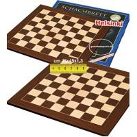 Scacchiera in legno, intarsio di Cassia Siamese  e  Acero. Dimensioni cm. 45x45, campo da gioco cm. 36x36, casa mm.45x45, spessore cm.1,3.