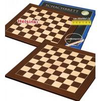 Scacchiera legno da torneo intarsio Cassia Siamese e Acero, dimensioni cm.55x55, casa mm. 55x55, spessore cm.1,3. Campo da gioco cm.44x44.