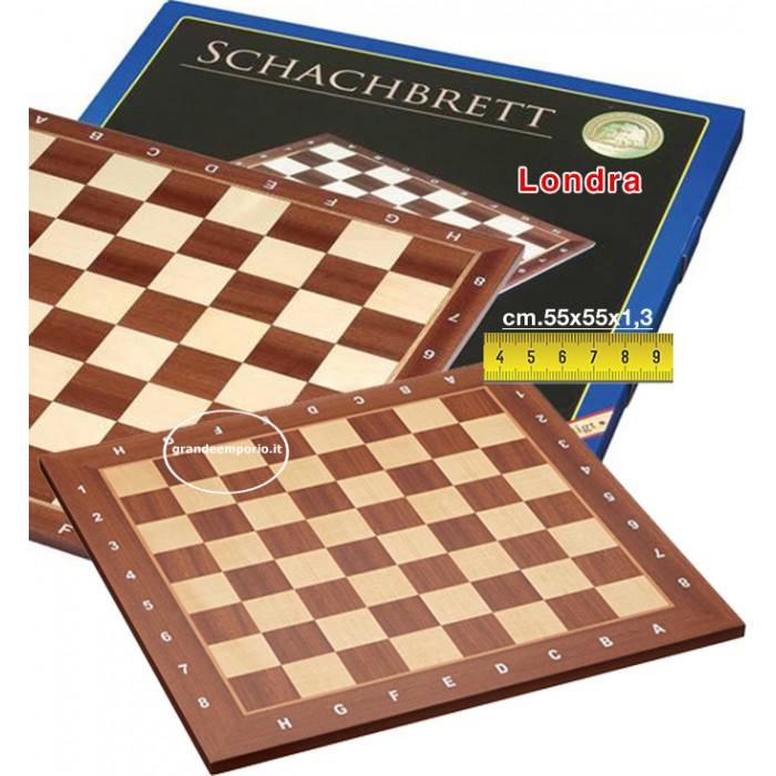 SCACCHIERA RADICA DI OLMO INTARSIATA 42 x 42 FINITURA LUCIDA             scacchi