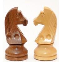 Scacchi tipo staunton in legno di bosso naturale Tito Livio, lucidati a mano, Re h mm.76, Scatola contenitore in simil radica di legno.