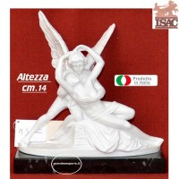 Statua Amore e Psiche di Antonio Canova riproduzione di Amilcare Santini in polvere di marmo altezza cm.14. Raffinata idea regalo.