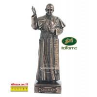 Statua Papa Francesco in resina bronzata altezza cm.28, peso Kg.1.350. Elegante prodotto Italfama Firenze.