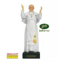 Statua Papa Giovanni Paolo secondo in resina pitturata a mano altezza cm.27, peso Kg.1.350. Elegante prodotto Italfama Firenze.