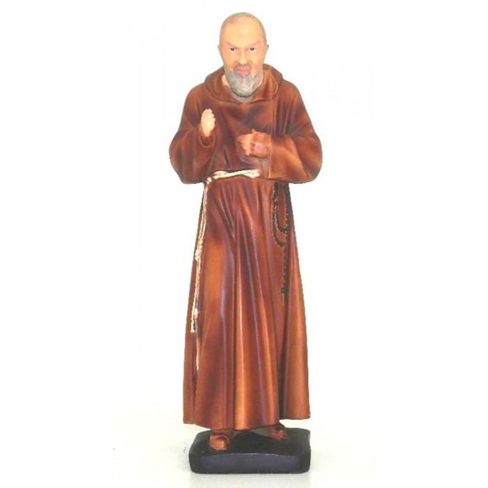 Statua Padre Pio in resina pitturata e rifinita a mano in ogni minimo dettaglio,  altezza cm.19. Elegante prodotto Italfama Firenze.