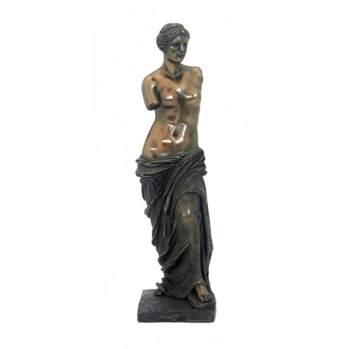 Statua della Venere di Milo, in resina bronzata rifinita a mano cm.28. Italfama Firenze.