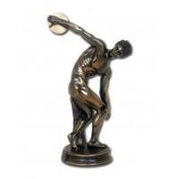 Statua del Discobolo di Mirone, in resina bronzata rifinita a mano cm.29 Italfama Firenze