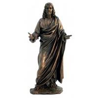 Statua Gesù Cristo in resina bronzata,  rifinita a mano in ogni minimo dettaglio,  altezza cm.31. Elegante prodotto Italfama Firenze.