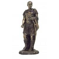 Statua Caio Giulio Cesare, in resina bronzata rifinita a mano altezza cm.25 Italfama Firenze.