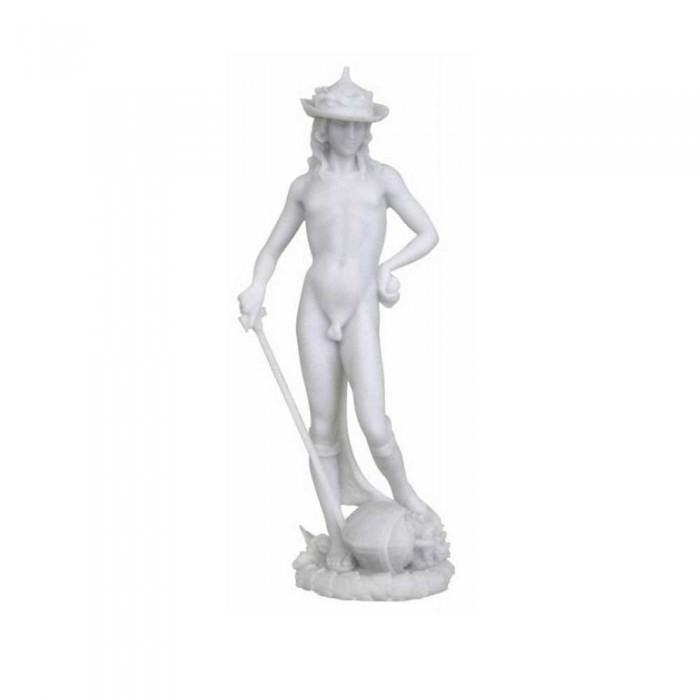 Statua del David di Donatello in resina bianca rifinita a mano cm.30. Elegante prodotto firmato Italfama Firenze.