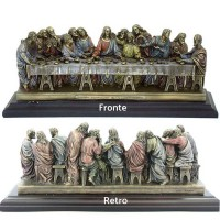 Statua in resina bronzata Italfama Firenze, tratta dal dipinto Ultima cena di Leonardo da Vinci, cm.26. SR73765
