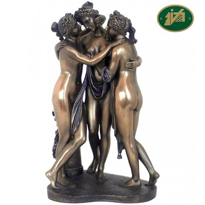 Italfama statua Le Tre Grazie di A. Canova statua, riproduzione, in resina bronzata rifinita a mano h. cm.30. Elegante prodotto firmato. Spedizione gratuita!