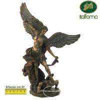 Statua San Michele Arcangelo, in resina bronzata rifinita a mano altezza cm.37. Elegante prodotto firmato Italfama.