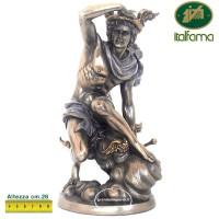 Italfama Firenze statua, di Mercurio Messaggero, in resina bronzata rifinita a mano cm.24