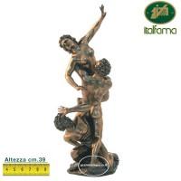 Statua il Ratto delle Sabine by Giambologna, in resina bronzata rifinita a mano cm.39. Elegante oggetto firmato Italfama Firenze.