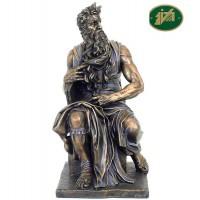 Italfama statua Mosè di Michelangelo riproduzione in resina bronzata altezza cm.27. Elegante prodotto firmato.