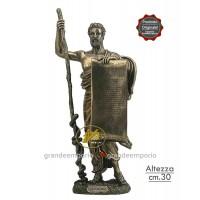 Statua in resina bronzata raffigurante Ippocrate. Statua  interamente rifinita a mano in ogni dettaglio e bronzata, altezza cm. Ht. 33.50 cm. Elegante idea regalo della Italfama di Firenze-Italia.SR76078.