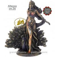Statua in resina bronzata raffigurante Hera dea del matrimonio . Statua  interamente rifinita a mano in ogni dettaglio e bronzata, altezza cm.26. Elegante idea regalo della Italfama di Firenze-Italia. SR72332.