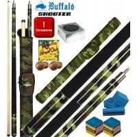 Stecca biliardo pool Buffalo Army cm.145 diametro cuoio mm.12, con porta stecca a tubo.  Accessori e omaggi.