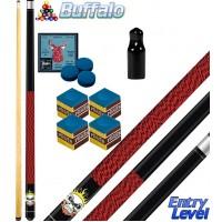 Buffalo Rocky stecca biliardo smontabile 2 pz. tutte le discipline pool. Lunghezza cm.120, punta Ø mm.12, con ricambi e omaggio.