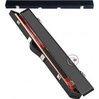 Buffalo Tycoon Rosso stecca biliardo pool cm.145, punta  mm.12, smont.le 2 pz. con valigetta porta stecca, accessori, ricambi e omaggio.