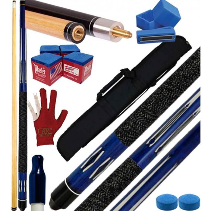 Buffalo Tycoon Blu stecca biliardo pool cm.145, punta mm.12, smont.le 2 pz. con fodero Duke , accessori, ricambi e omaggio.