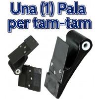 Paletta-pala Dribling pro per gioco Tam-Tam in polietilene Nero, cm.8,5x10,8 diametro interno mm.12, con schermo paramani.