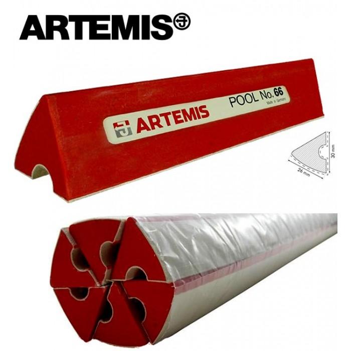 Artemis sponda in gomma professional profilo K66 per biliardo pool. Set sei liste cm.120 ciascuna.