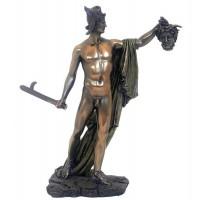 Riproduzione in resina bronzata e colorata altezza cm. 26, made in Italy, della famosa opera del Canova Perseo Trionfante.
