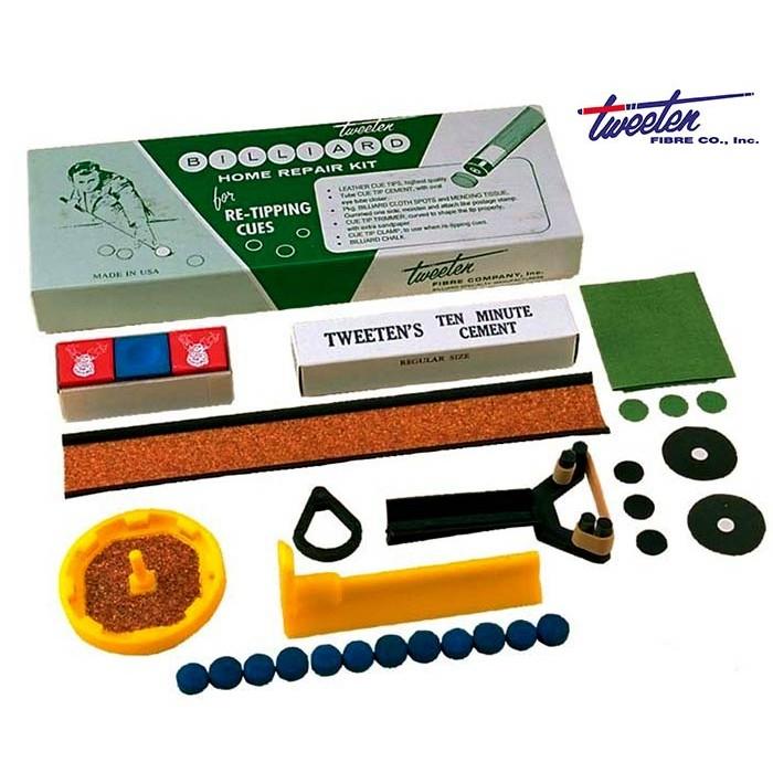 Home Repair Kit Tweeten Fibre USA per stecca biliardo, riparazione e manutenzione stecca e panno biliardo.