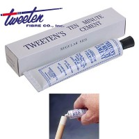 Tweeten  Fibre co. USA Ten Minute Cement. Mastice per incollaggio cuoi su stecche biliardo.