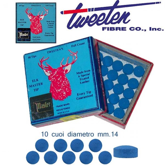 Tweeten Elk Master 10 cuoi per stecca biliardo diametro mm.14