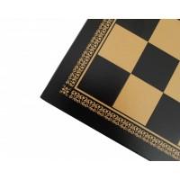 Scacchiera Italafama in similpelle oro/nero cm 33x33x1.5 casella cm 3.5