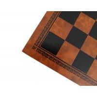 Scacchiera Italafama in similpelle marrone/nero cm 33x33x1.5 casella cm 3.5